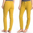 2 Eileen Fisher Skinny Ankle Jeans Small Parrot Yellow Retail: $178