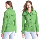 12 Burberry Brit Fordleigh Packable Coat Leaf Green Large