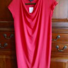 Eileen Fisher Drape Front Shift Dress XSmall 0 2 Viscose Jersey Pink XS Strawberry