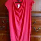XSmall Eileen Fisher Drape Front Shift Dress Viscose Jersey Pink XS Strawberry 0 2