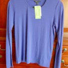 S Eileen Fisher Stretch Silk Jersey Small French Lilac 2 4 Lavender Top Blouse