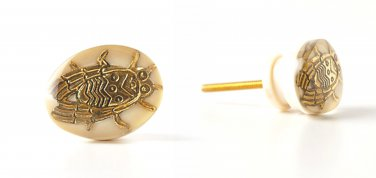 Four Anthropologie Phedra Knobs Pulls Bug Insect Nature