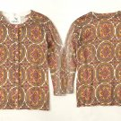 S Anthropologie Medallion Cardigan Small Cardi NWT Tabitha 2 4 Gold