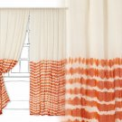 "1 Panel Anthropologie Bamoko Curtain 50"" x 108"" NWT Orange Hand Dyed"