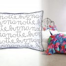 2 Pcs Anthropologie Stellate Script Shams Standard Dotty Words