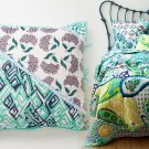 2 Pcs Anthropologie Daydreamer Euro Sham Blue