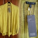 XS Eileen Fisher Variegated Linen Silk Angled Cardigan Citrine XSmall NWT 0 2