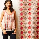S Anthropologie Sequined Sforza Tank Top Blouse Small NWT Pink Deletta 2 4