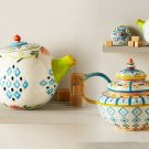 Anthropologie Capan Tea Set Creamer & Lid Stoneware Dishwasher Safe