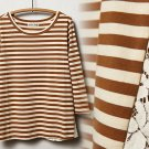 S Anthropologie Laced Lines Top Neutral Motif Small 2 4 Lili's Closet Striped