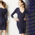 $178 Anthropologie Bandage Dress XSmall 0 2 Plenty Tracy Reese Blue Motif