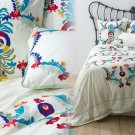 Anthropologie Amora Duvet Cover King South American Style Bright Embroidery NWT