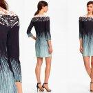 4 Diane von Furstenberg Blue Ruri Silk Shift Dress Small $345 DVF Rockscape NWT