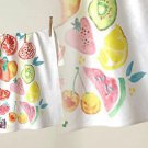 Anthropologie Dishtowel Green Grocer Cotton Colorful Fruit Hostess Wedding Gift