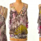 6 Anthropologie Crushed Chroma Blouse Top Tank $148 Medium Leifsdottir