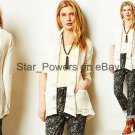 Anthropologie Lacestitch Cardigan Sweater Large 10 12 Ivory Angel of the North