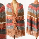 Anthropologie Pirai Poncho Wrap Shawl Handknit $398 Alpaca Bolivia Inspired