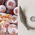 "Anthropologie Fish Bottle Opener Nautical Ocean Brass & SS Steel Fisherman Gift 5.75""L - 2""W"