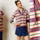 XS Anthropologie Cajamarca Hoodie XSmall 0 2 Striped Pullover by Cardigan