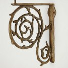 Anthropologie Twirling Trunks Bracket Bronze Color - Brass Hardware Required