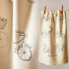 Anthropologie Pedal Power Dishtowel Bicycle Bike Cotton Whimsical Machine Wash