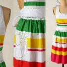 Anthropologie Chicle Apron Cotton Colorful Cheerful