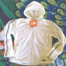 S North Face TKA Fleece Jacket Small 2 4 Full Zip Vintage White with Grey Trim NWT