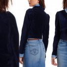 4 Anthropologie Maude Velvet Jacket Small S Navy Blue Leifsdottir Retail: $138