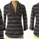 Anthropologie Raining Lines Henley Blue Stripes Small 2 4 Pilcro