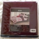 $450 Boss Hugo Boss Queen Coverlet Luxe Wine Cotton Silk NIP