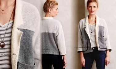 Anthropologie Lindsome Gallery Jacket XSmall 0 2 Grey SOFT Deconstruced Terry