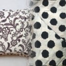 Anthropologie Monochrome Bloom Euro Sham Black & Ivory Blooms & Polka Dots