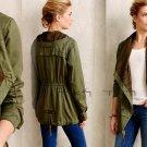 M Anthropologie Layered Etta Anorak Medium 6 8 Moss Green Jacket Soft Comfy