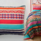 2 Pcs Anthropologie Jaana Euro Shams Pair Icelandic Colorful Bright Graphic Cotton