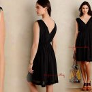 Anthropologie Lavana Dress Black 4 Small HD in Paris Romantic Fit-and-Flare