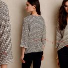 Anthropologie Textured Avana Tee XSmall 0 2 Neutral Motif Stretches COMFY