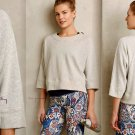 Anthropologie French Terry Pullover Medium 6 8 Grey Dolman Oragnic Cotton