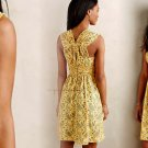 Anthropologie Lots of Lace Dress 10 Large Yellow Plenty Tracy Reese