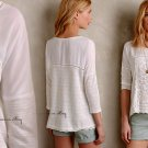 Anthropologie Tayrona Lace Top Small 2 4 Ivory Feminine Romantic
