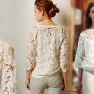 Anthropologie Top Small 2 4 White Lace Romantic Blouse Pullover 5 Star Reviews