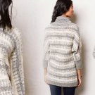 Anthropologie Glissando Sweater Tunic Medium 6 8 Neutral Motif Top Sweater