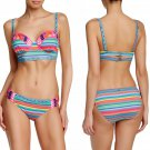 Nanette Lepore Swim Flora Fiesta Longline Bikini Top + Charmer Hipster Bottom XSmall 0 2