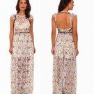 $350 Free People Cherry Blossom Maxi Dress 6 Medium Spring Garden Combo