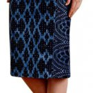 Anthropologie Alaia Pencil Skirt 4 Small Blue Print Plenty by Tracy Reese