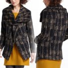 Anthropologie Modernist Shawl-Collar Coat Small 2 4 Wool Blend