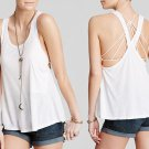 We The Free Hot Pocket Tank Small 2 4 White Free People Soft Racer Back