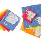Anthropologie Teacup Cocktail Napkins Set of Four Molly Hatch NIP