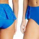 Spanx Flirty Skirted Swim Bottom 14 XLarge Electric Blue Geo NWT