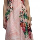 $198 Anthropologie Jardin de Rosas Midi Dress 6 Medium Pink Floral Print