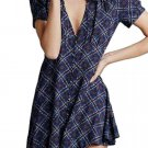 $128 Free People Melody Easy Printed Dress Size 0 Small Black Combo